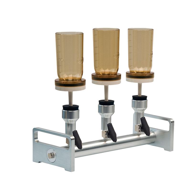 Combinazione di unità di filtrazione a tre vie (alluminio)