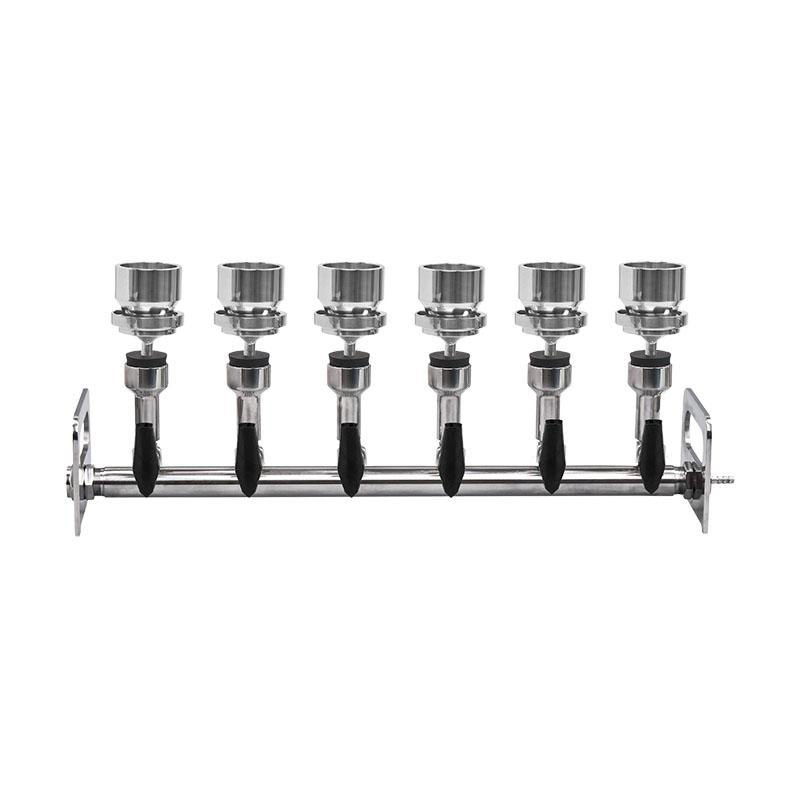 Combinazione di sei filtri di aspirazione in acciaio inossidabile